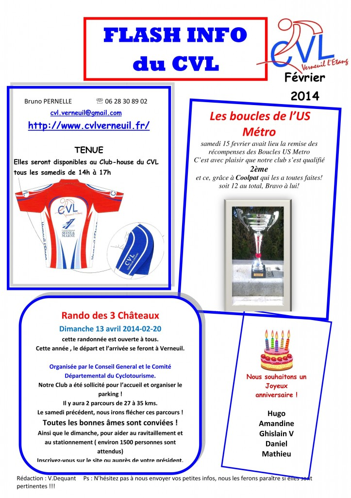flash info fevrier 2014
