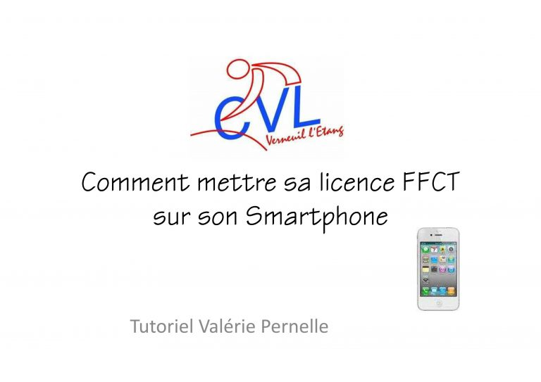 comment mettre sa licence sous smartphone